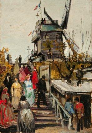 Van Gogh moulin de la galette à Montmartre.