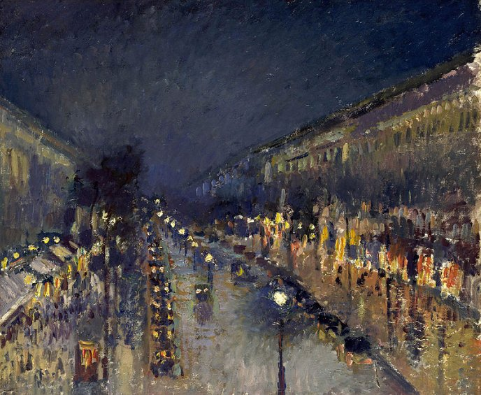 Effet de nuit boulevard Montmartre Camille Pissaro