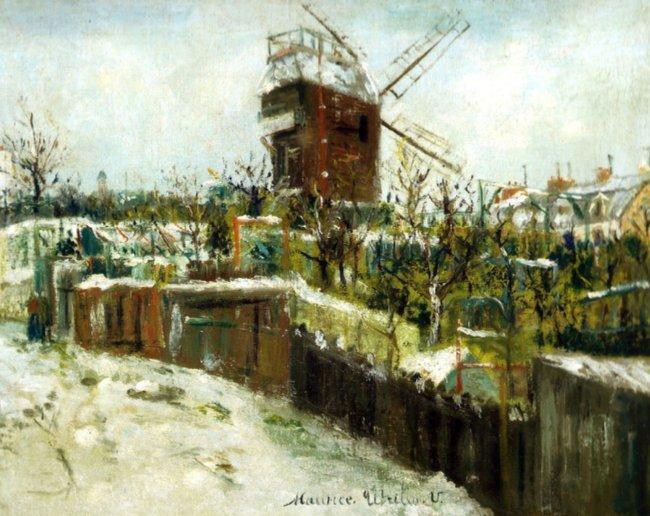 Utrillo moulin à Montmartre.
