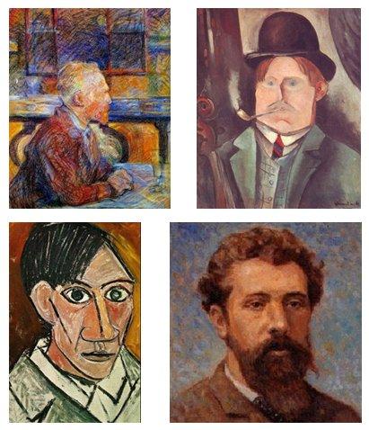 visite des peintres de Montmartre