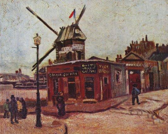 Van Gogh Moulin à Montmartre